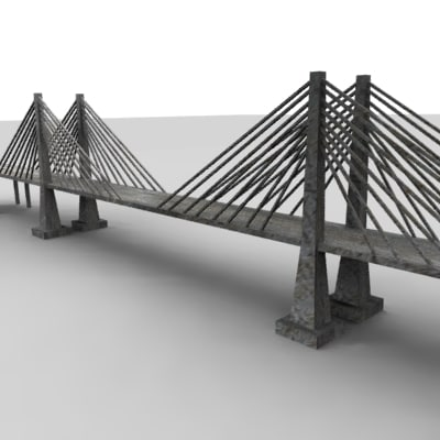 3ds bridge polygonal