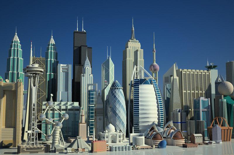 architectural mega kit skyscrapers max