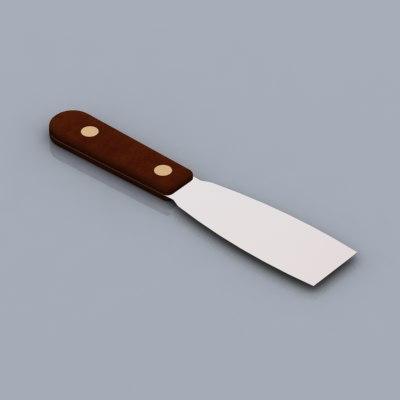 3d putty knife
