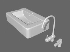watertaps sink 3d model