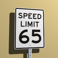 Speed Limit 65 MPH
