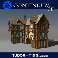 T10 Tudor style medieval building - STUCCO