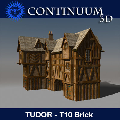 3ds max t tudor style medieval building