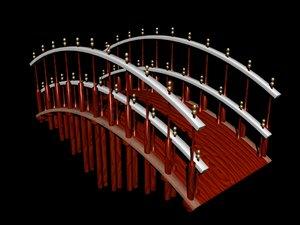 3d bridge footbridge model
