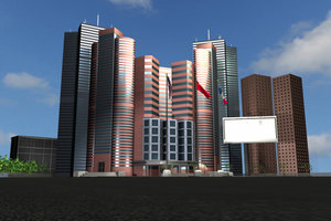 3d model of hotel convention center
