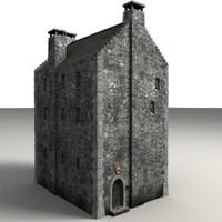 building house medieval 3d lwo