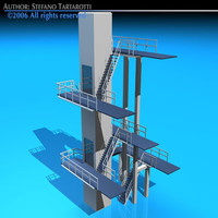 3dsmax diving tower