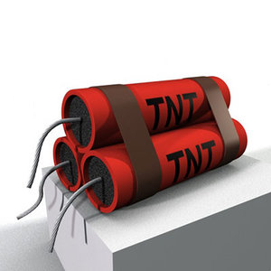 3d tnt trinitrotolane 3 model
