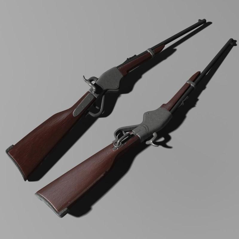 3d model carabina spencer 1860