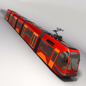 tram passenger 3d model
