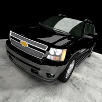 chevrolet avalanche truck 3d max