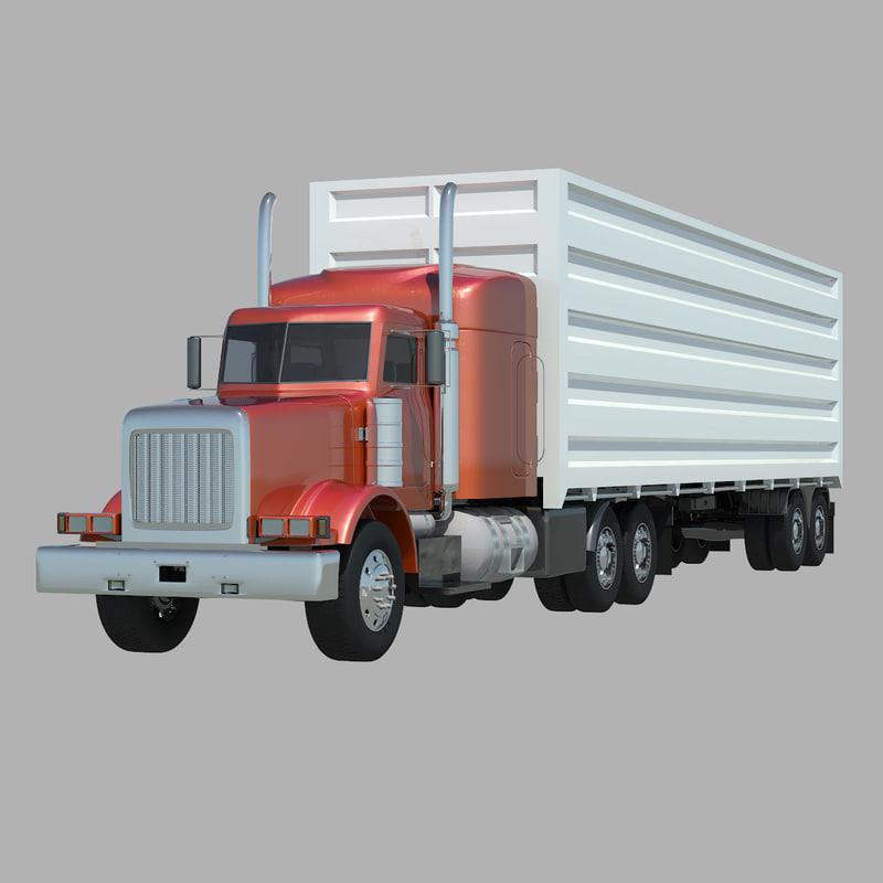 3d american 18 semi truck