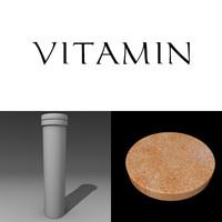 3d vitamin box