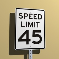 Speed Limit 45 MPH