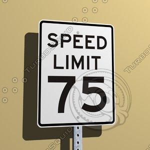 3d model street sign