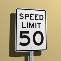 Speed Limit 50 MPH