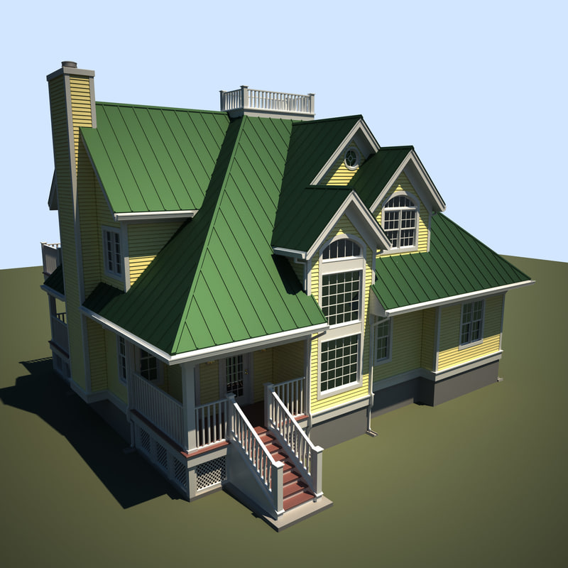 3ds max exterior house