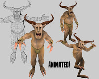 Fantasy Character Stag Beetle (animated)
