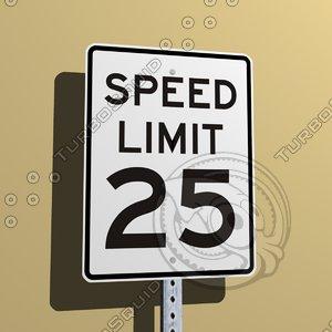 3d street sign
