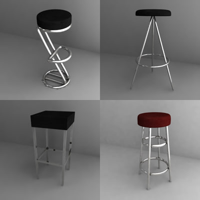 bar chair obj