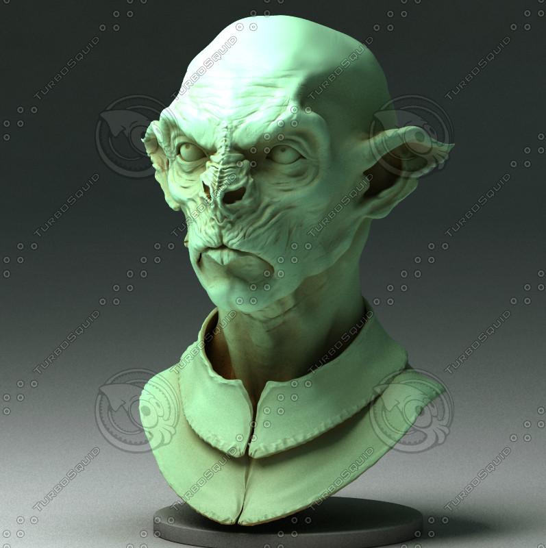 3d sculpting orc model