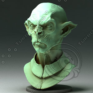 3d sculpting orc model