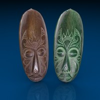 ceremonial masks 3d model