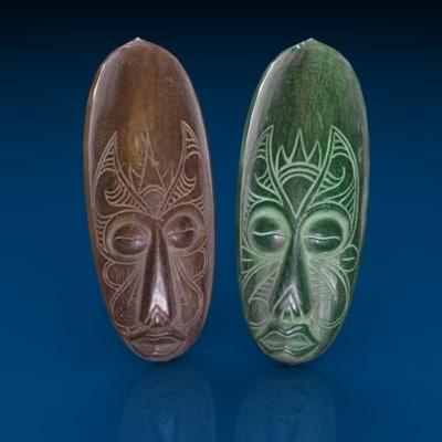 ceremonial masks 3d model