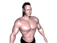 3d human male body