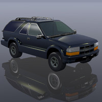 3d model of sport utility truck