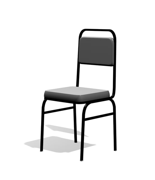 free 80 cushioned stacking chair 3d model