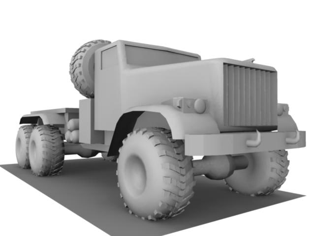 3d 255 kraz truck model