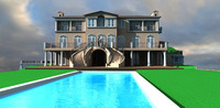 3d beverly hills mansion