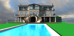 3d beverly hills mansion