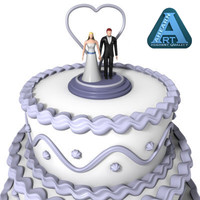 wedding cake figures 3d model