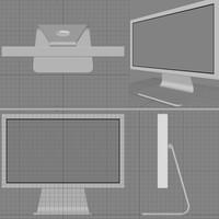 free mac monitor 3d model