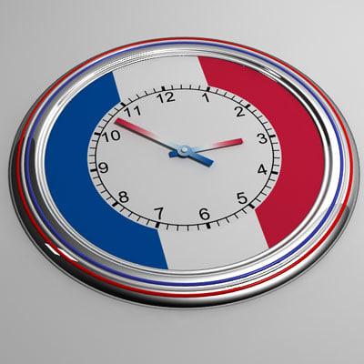 3d clock 16 france model