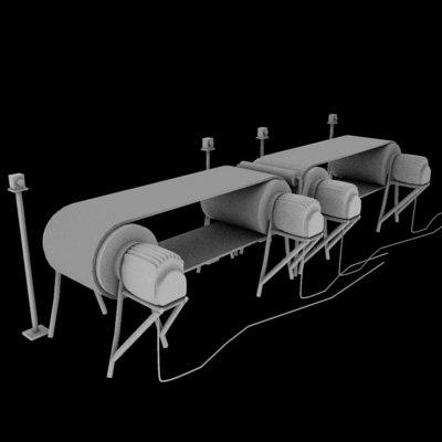 3d model belt conveyer