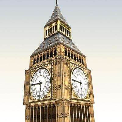 bigben tower 3d model