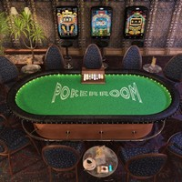 3d model pokertable tables