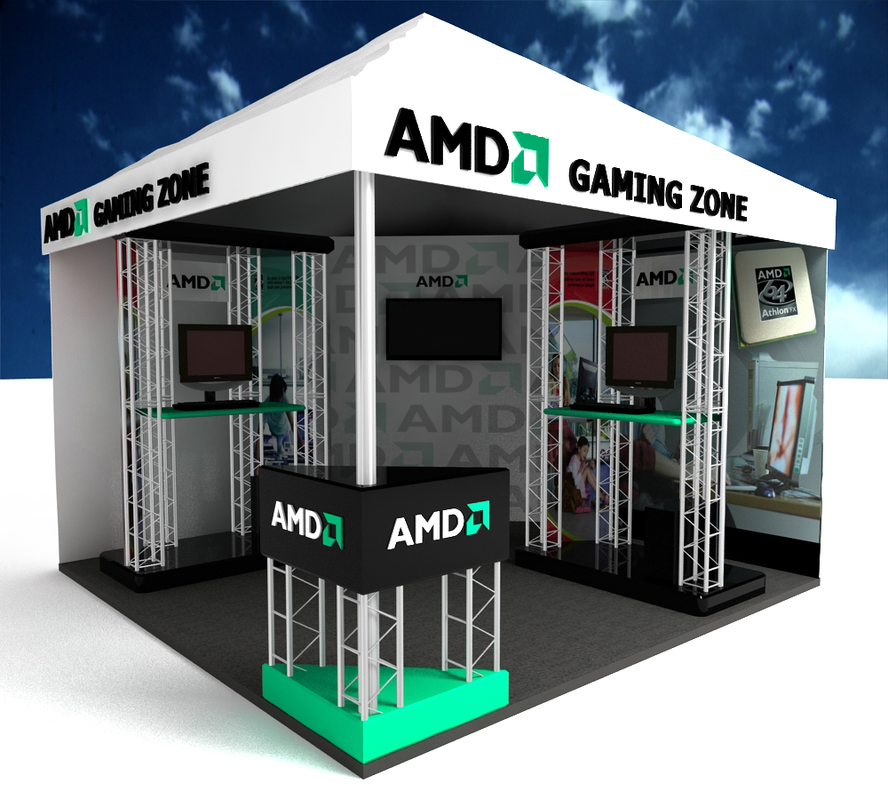 3dsmax exhibition booth promotions