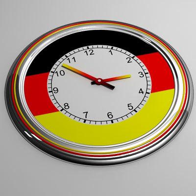 3d model clock 17 germany