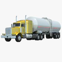 3d model of semi truck cistern trailer