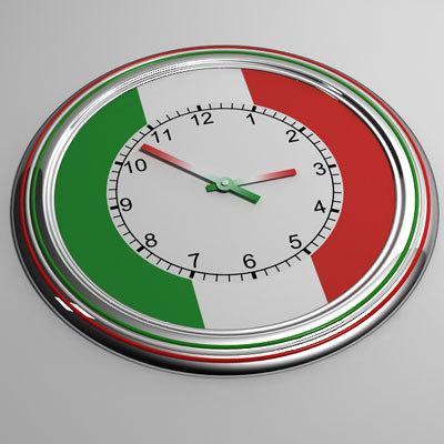 3d model clock 18 italy