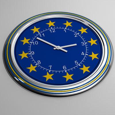clock 24 eu 3d max