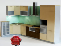 kitchen mota 3d 3ds
