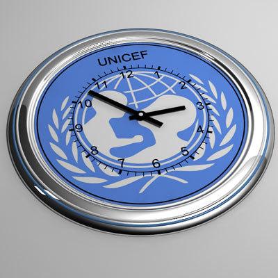 clock 32 unicef 3d max