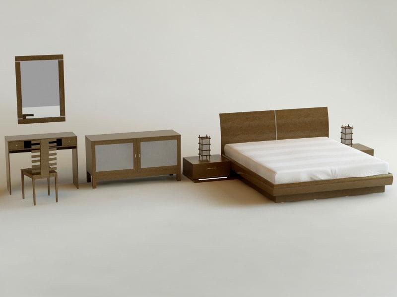 3d bedroom mota model