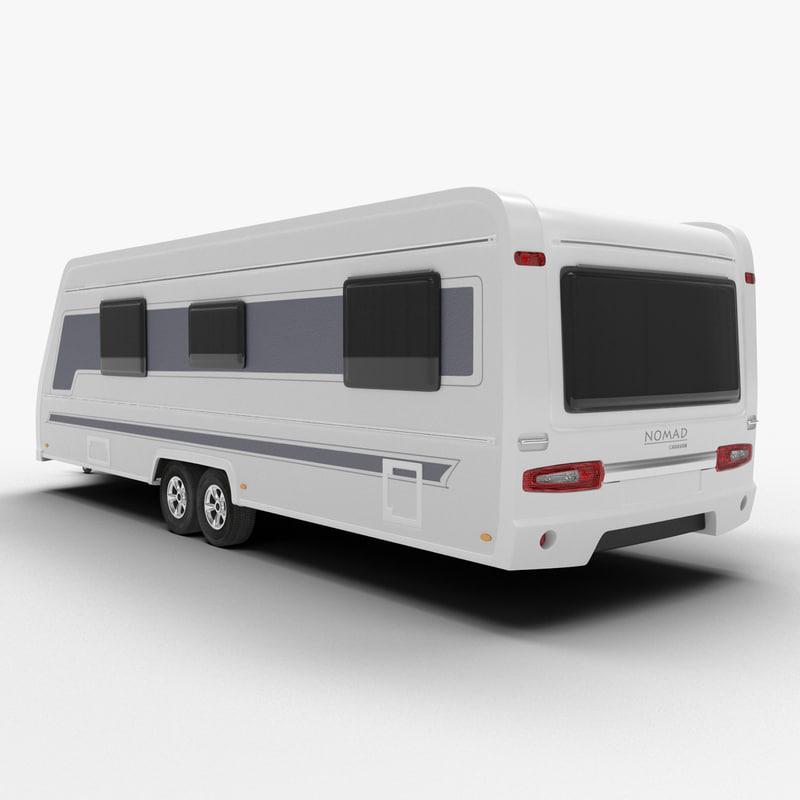 caravan van 3d model