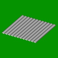 grey corrugated iron 3d model